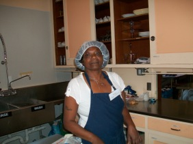 Bertha joined TKT shortly after we began serving meals in-house.  Watch out for her brazed chicken wings, baked fish, and fruit pies.